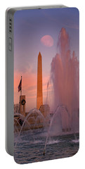 Dc Sunset Portable Battery Charger by Betsy Knapp