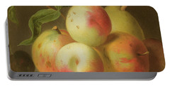 Detail Of Apples On A Shelf Portable Battery Charger by Jakob Bogdany