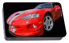 Dodge Viper Gts Portable Battery Charger by Gill Billington