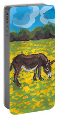 Donkey And Buttercup Field Portable Battery Charger by Sarah Gillard
