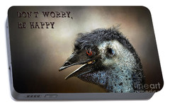Don't Worry  Be Happy Portable Battery Charger by Kaye Menner