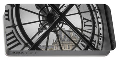 D'orsay Clock Paris Portable Battery Charger by Joan Carroll