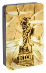 Dove Feathers And American Landmarks Portable Battery Charger by Jorgo Photography - Wall Art Gallery