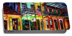 Down On Bourbon Street Portable Battery Charger by Diane Millsap