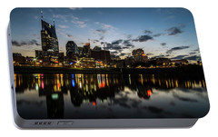 Downtown Nashville At Dusk  Portable Battery Charger by Sven Brogren