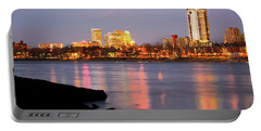 Downtown Tulsa Oklahoma - University Tower View Portable Battery Charger by Gregory Ballos
