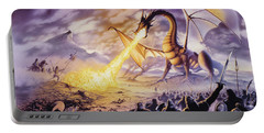 Dragon Battle Portable Battery Charger by The Dragon Chronicles - Steve Re