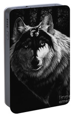 Dragon Wolf Portable Battery Charger by Stanley Morrison