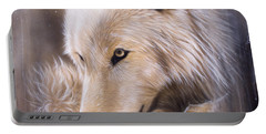 Dreamscape - Wolf Portable Battery Charger by Sandi Baker