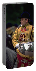 Portable Battery Charger featuring the photograph Drum Horse At Trooping The Colour by Travel Pics
