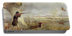 Duck Shooting  Portable Battery Charger by Henry Thomas Alken