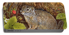 Eagle Creek Wild Strawberry Ground Squirrel Portable Battery Charger by Ditz