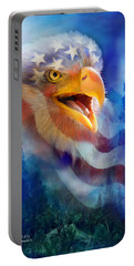 Eagle's Cry Portable Battery Charger by Carol Cavalaris