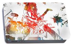 Eddie Van Halen Paint Splatter Portable Battery Charger by Dan Sproul