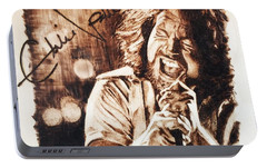 Eddie Vedder Portable Battery Charger by Lance Gebhardt