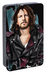 Eddie Vedder Portable Battery Charger by Melanie D