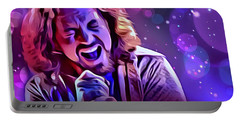Eddie Vedder Portrait Portable Battery Charger by Scott Wallace