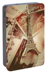 Eiffel Tower Old Romantic Stories In Ancient Paris Portable Battery Charger by Jorgo Photography - Wall Art Gallery