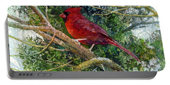 Elegance In Red Portable Battery Charger by Hailey E Herrera