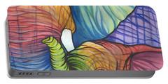 Elephant Hug Portable Battery Charger by Sarah Jane