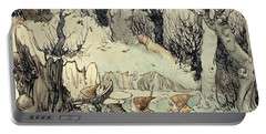 Elves In A Wood Portable Battery Charger by Arthur Rackham