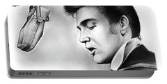 Elvis Presley Portable Battery Charger by Greg Joens