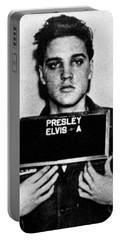 Elvis Presley Mug Shot Vertical 1 Portable Battery Charger by Tony Rubino
