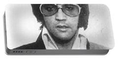 Elvis Presley Mug Shot Vertical Portable Battery Charger by Tony Rubino