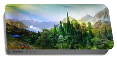 Emerald City Portable Battery Charger by Mary Hood