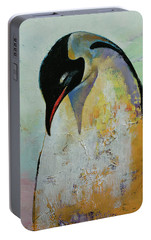 Emperor Penguin Portable Battery Charger by Michael Creese