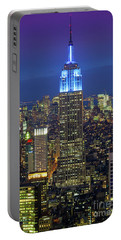 Empire State Building Portable Battery Charger by Inge Johnsson