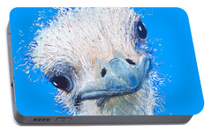 Emu Painting Portable Battery Charger by Jan Matson