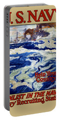 Enlist In The Navy - For Liberty's Sake Portable Battery Charger by War Is Hell Store