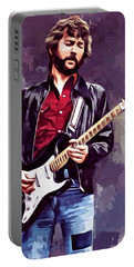 Eric Clapton Painting Portable Battery Charger by Scott Wallace