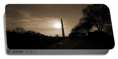 Evening Washington Monument Silhouette Portable Battery Charger by Betsy Knapp