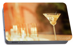 Evening With Martini Portable Battery Charger by Ekaterina Molchanova