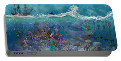 Everything Under The Sea Portable Battery Charger by Betsy Knapp