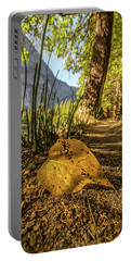 Fall In Leaf Portable Battery Charger by Peter Tellone