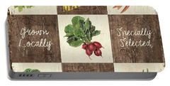 Farmer's Market Patch Portable Battery Charger by Debbie DeWitt