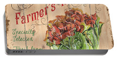 Farmer's Market Sign Portable Battery Charger by Debbie DeWitt