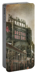 Fenway Park Billboard - Boston Red Sox Portable Battery Charger by Joann Vitali