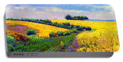Fields Of Gold Portable Battery Charger by Jane Small