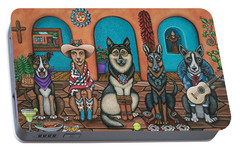 Fiesta Dogs Portable Battery Charger by Victoria De Almeida