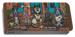 Fiesta Dogs Portable Battery Charger by Victoria De Almeida