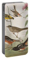 Finches Portable Battery Charger by John James Audubon