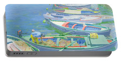 Fishing Boats Portable Battery Charger by William Ireland
