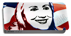 Flag Of Hillary Portable Battery Charger by Jost Houk
