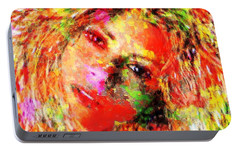 Flowery Shakira Portable Battery Charger by Navo Art