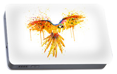 Flying Parrot Watercolor Portable Battery Charger by Marian Voicu