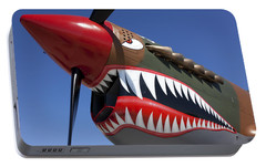 Flying Tiger Plane Portable Battery Charger by Garry Gay